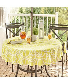 "Elrene Chase Geometric Stain Resistant Indoor Outdoor 70"" Round Umbrella Tablecloth"