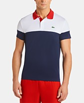 a6882505 Lacoste Men's Ultra Dry Moisture-Wicking Colorblocked Technical Polo