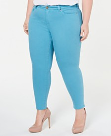 Celebrity Pink Trendy Plus Size Skinny Ankle Jeans