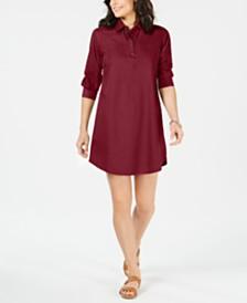Karen Scott Cotton Woven Shirtdress, Created for Macy's