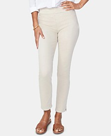 Tummy-Control Pull-On Ankle Skinny Jeans