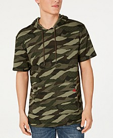 Men's Stitched Camo-Print Hoodie, Created for Macy's