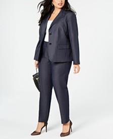 Nine West  Plus Size Two-Button Blazer & Straight-Leg Pants