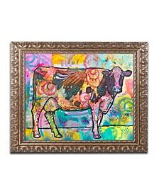 "Dean Russo 'Cow' Ornate Framed Art - 14"" x 11"""