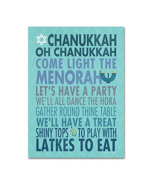 "Trademark Global Stephanie Marrott 'Chanukkah' Canvas Art - 14"" x 19"""