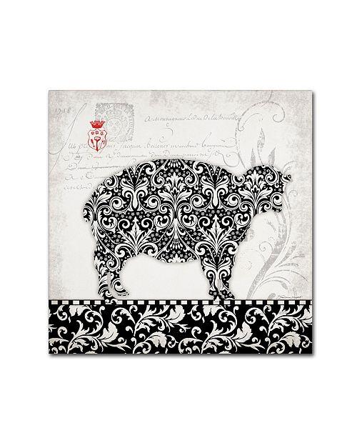 "Trademark Global Stephanie Marrott 'Sheep B&W' Canvas Art - 14"" x 14"""