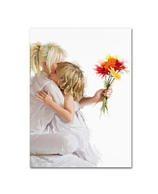 """The Macneil Studio 'Mother and Daughter' Canvas Art - 14"""" x 19"""""""