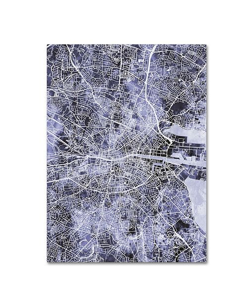 City Map Of Dublin Ireland.Michael Tompsett Dublin Ireland City Map Iii Canvas Art 14 X 19