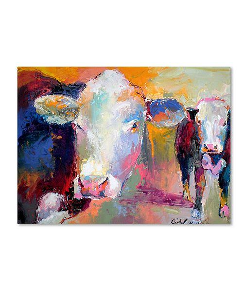 """Trademark Global Richard Wallich 'Art Cows' Canvas Art - 14"""" x 19"""""""
