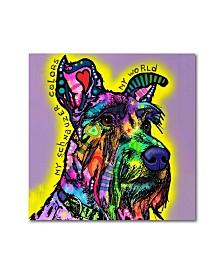 "Dean Russo 'My Schnauzer' Metal Art - 16"" x 16"""