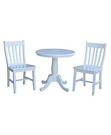 """30"""" Round Top Pedestal Table- With 2 C08-61 Chairs"""