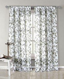 "Lylia 54"" x 84"" Floral Curtain Set"