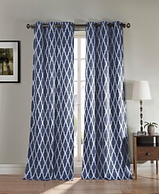 "Kittattinny 38"" x 112"" Trellis Print Blackout Curtain Set"