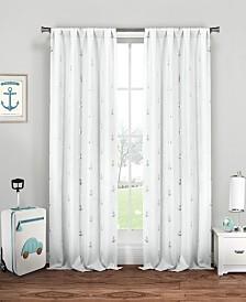 "Ahoy 38"" x 84"" Anchor Print Curtain Set"