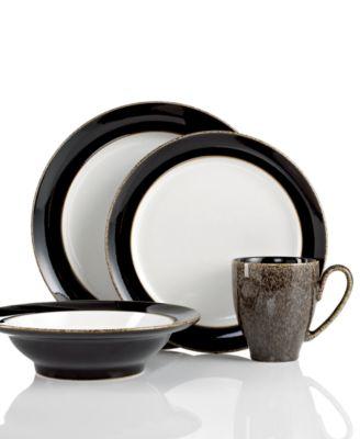 Dinnerware, Praline Noir 4 Piece Place Setting