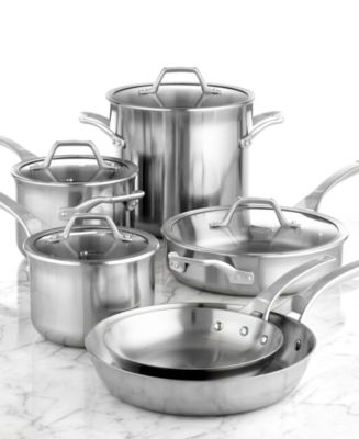 calphalon accucore stainless steel 10 piece cookware set - Calphalon Cookware Set