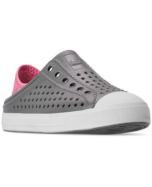 Skechers Little Girls' Guzman Slip-On Casual Sneakers from Finish Line