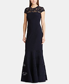 Lauren Ralph Lauren Lace-Panel Gown