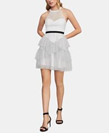 BCBGMAXAZRIA Illusion Fit & Flare Dress