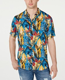 GUESS Men's Rogan Tropical Shirt