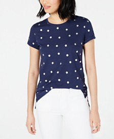 Maison Jules Metallic Polka-Dot T-Shirt, Created for Macy's