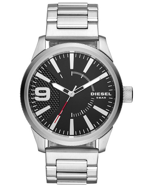 Diesel Men's Rasp Stainless Steel Bracelet Watch 46mm