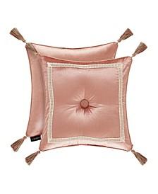 """J Queen Floral Park  18"""" Square Decorative Throw Pillow"""
