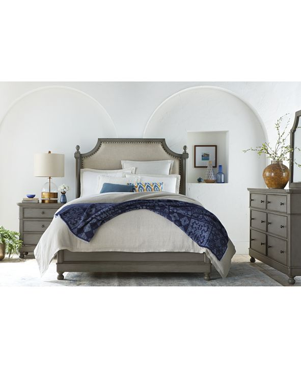 Furniture Bella Bedroom Furniture, 3-Pc Set (Upholstered Queen Bed, Nightstand & Dresser), Created for Macy's