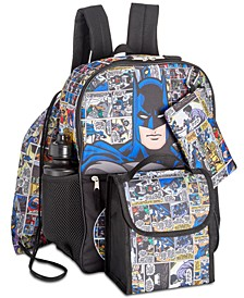 Little & Big Boys 5-Pc. Batman Graphic Backpack Set