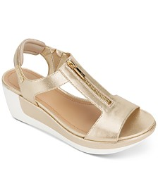 Kenneth Cole Reaction Pepea Zip Wedge Sandals