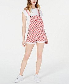 Checker Roll-Hem Shortalls