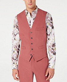 INC Men's Slim-Fit Dusty Red Vest, Created for Macy's