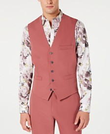 I.N.C. Men's Slim-Fit Dusty Red Vest, Created for Macy's