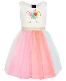 Little Girls Rainbow Skirt Dress