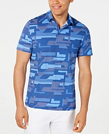 Men's Geometric Pattern-Print Polo, Created for Macy's