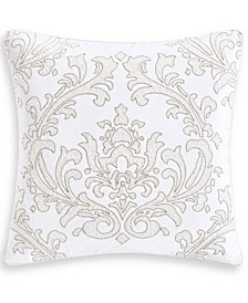 "Classic White Shop 18"" Square Decorative Pillow, Created for Macy's"