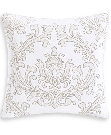 "Hotel Collection Classic White Shop 18"" Square Decorative Pillow, Created for Macy's"
