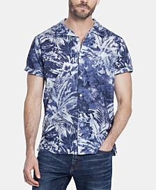 Weatherproof Vintage Men's Foliage Print Camp Shirt