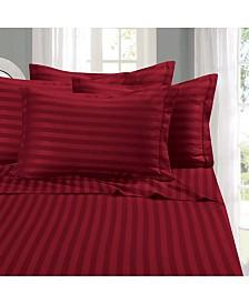 Elegant Comfort 6-Piece Luxury Soft Stripe Bed Sheet Set Queen