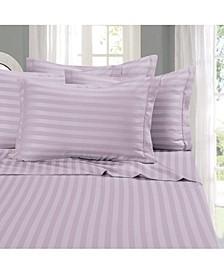 6-Piece Luxury Soft Stripe Bed Sheet Set King