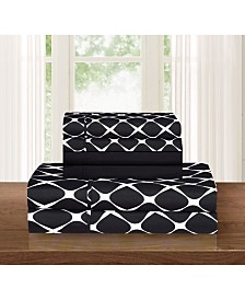 Elegant Comfort Bloomingdale 6-Piece Wrinkle Free Sheet Set King
