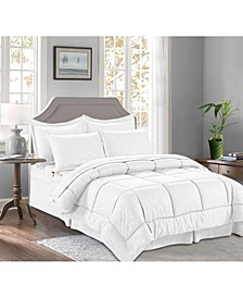 8-Piece Bamboo Bed-in-a-Bag Comforter Set Includes Bed Sheet Set with Double Sided Storage Pockets Full/Queen