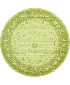 Aldrose Ald4 Light Green 8' x 8' Round Area Rug