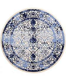 Aldrose Ald6 Blue 8' x 8' Round Area Rug