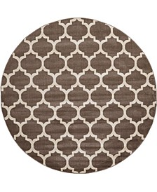 Arbor Arb1 Light Brown 8' x 8' Round Area Rug