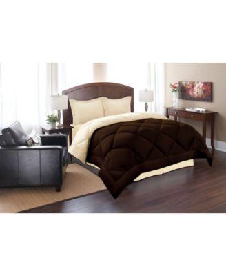 3 Piece All-Season Reversible Down Alternative Hypoallergenic Comforter Set