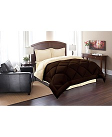 All - Season Down Alternative Luxurious Reversible 3-Piece Comforter Set Full/Queen