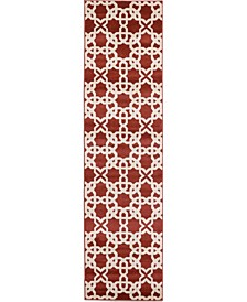 "Arbor Arb5 Dark Terracotta 2' 7"" x 10' Runner Area Rug"