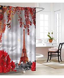 Elegant Comfort Luxury Premium Quality 3D Graphic Printed Bathroom Shower Curtain - 100% Vinyl Waterproof