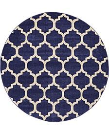 Arbor Arb1 Dark Blue 6' x 6' Round Area Rug
